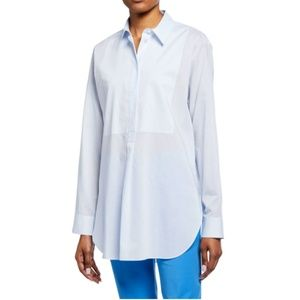 Theory Tops - Theory Button-Front Long-Sleeve Cotton Tunic